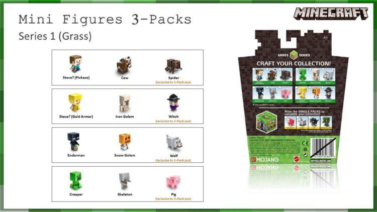 Minecraft 3 Mini Personaggi