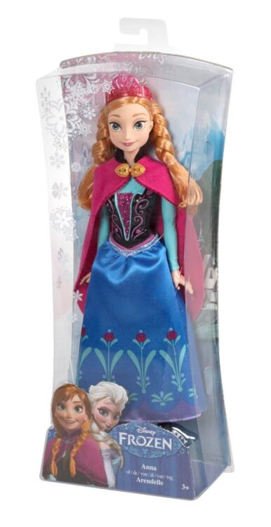 Disney Frozen - Bambola Anna Principessa Scintillante