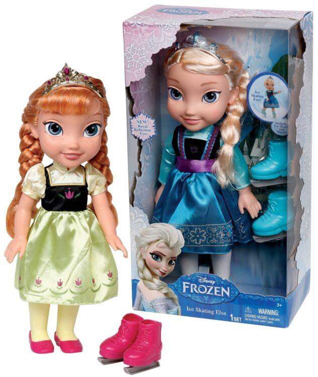 Bambola Disney Frozen (Anna o Elsa) con pattini