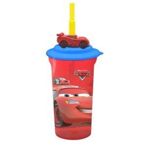 Bicchiere 3D con cannuccia Disney Cars