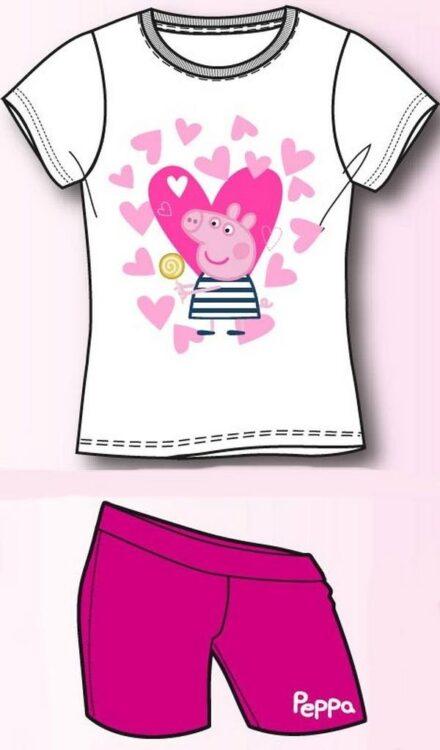"Completo Peppa Pig T-shirt ""Cuori"" & Shorts"