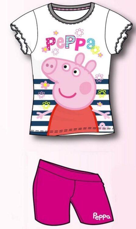 "Completo estivo bimba T-shirt & Short Peppa Pig ""tra le righe"""