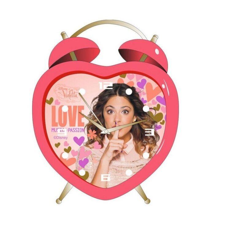 Orologio sveglia Violetta Heart