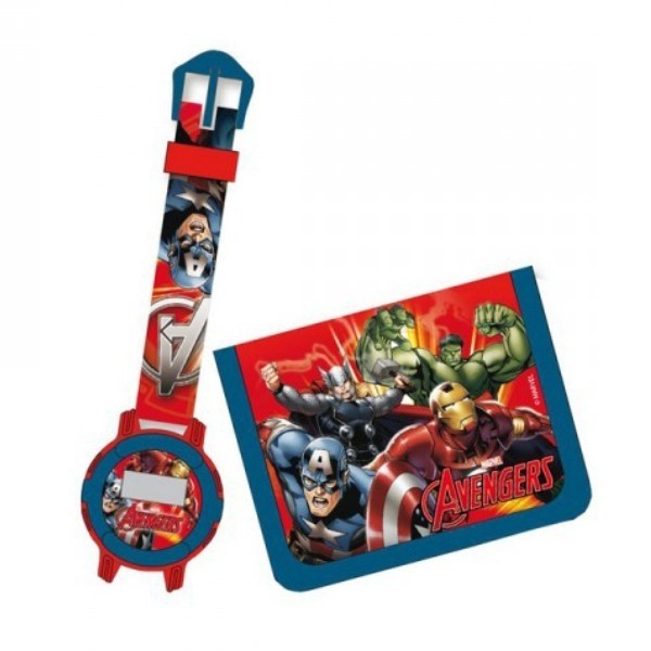 Set Orologio da Polso e Portafogli Avengers