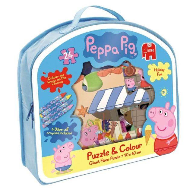 Puzzle 24 pezzi da colorare Peppa Pig