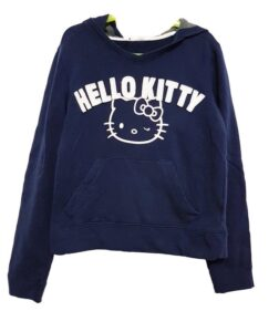 Felpa blu con cappuccio Hello Kitty