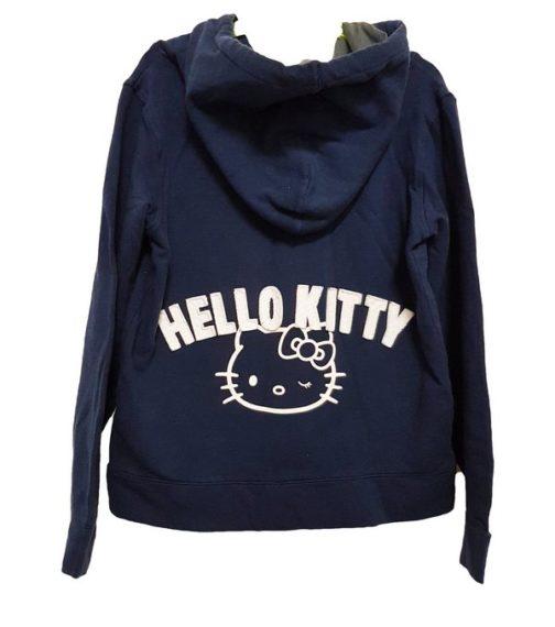 Felpa blu con cappuccio e zip Hello Kitty