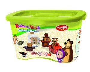 Playset mattoncini salotto di Orso Masha e Orso