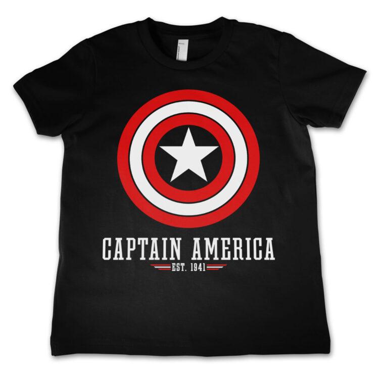 Marvel Comics - Captain America Logo T-shirt Bambino