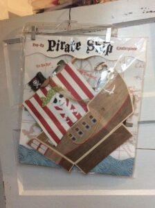 Centrotavola con scatoline Galeone Pirati