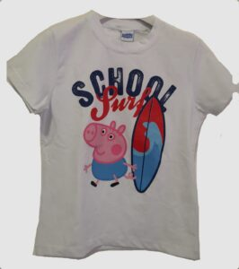 "T-shirt Peppa Pig ""George e il Surf"""