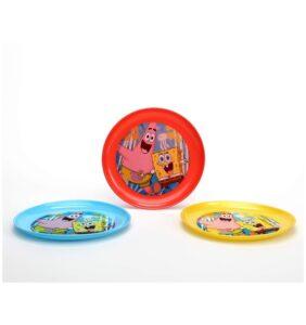 Set 3 piatti plastica Spongebob