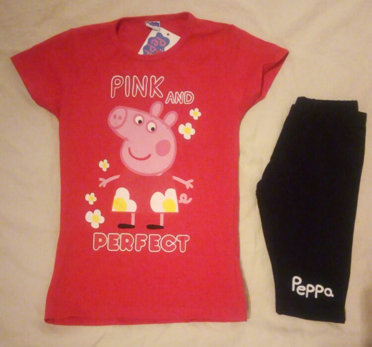 "Completo estivo bimba T-shirt & Short Peppa Pig ""Perfect"""