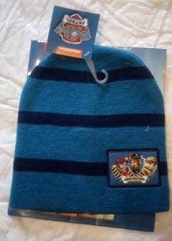 Berretto in maglia a righe con bustina regalo Paw Patrol
