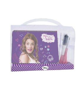 Pochette Violetta con pennelli