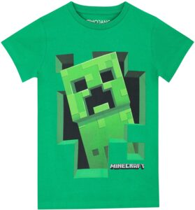 T-shirt bambino Minecraft Creeper