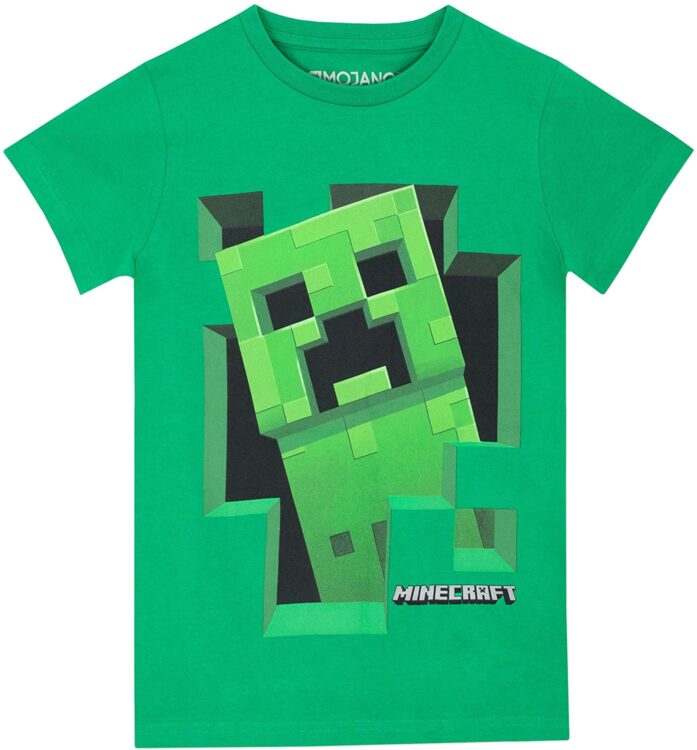 T-shirt bambino Minecraft Creeper
