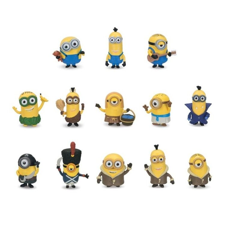 Set 12 blister mini figures articolate Minions