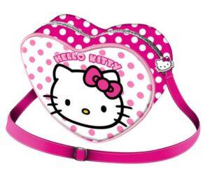 Borsa cuore Hello Kitty Pois