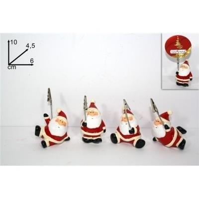 Set Natalizio da 12 portabiglietti Babbo Natale