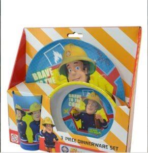 Set Tavola 3 pz Sam il Pompiere