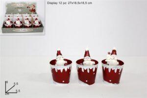 Set 12 Candele Babbo Natale