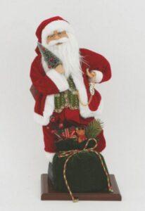 Babbo Natale su base di legno