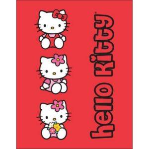 Plaid pile Hello Kitty
