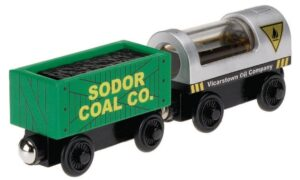 Trenino Thomas Linea Legno Diesel & Steamie