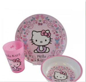 Set tavola 3pz Hello Kitty Animali del Bosco
