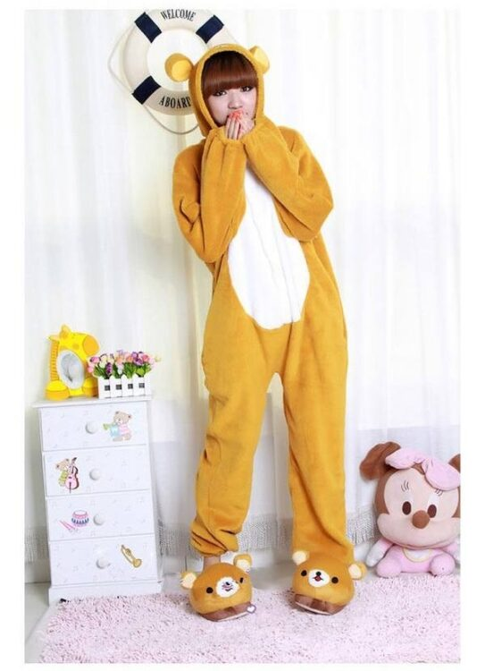 Kigurumi adulto pigiamone Rilakkuma Bear Medium (157~165cm)
