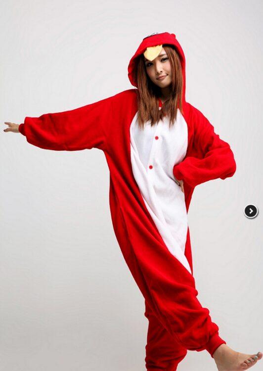 Kigurumi adulto pigiamone Angry Bird Red Large (166~174cm)