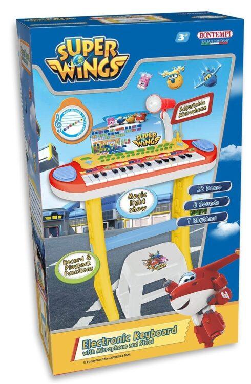Super Wings - Pianola e sgabello Bontempi