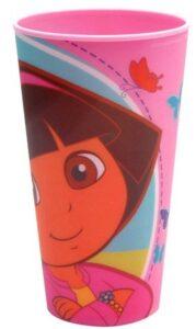 Bicchiere stampa olografica Dora L'Esploratrice