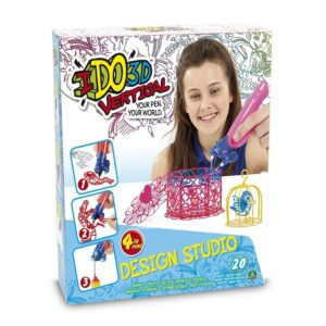 I Do 3D Gioco Vertical Design Studio, Set con 4 Penne 3D ed Accessori