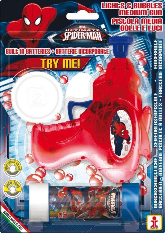 Spiderman pistola spara bolle di sapone