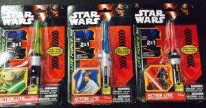 Portachiavi Star Wars spada laser luminosa