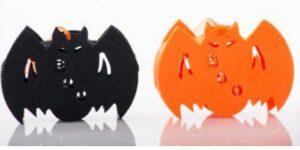 Set 12 Pipistrelli in feltro con led