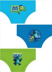 Set 3 slip bimbo Monsters University