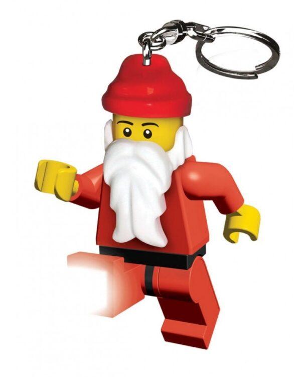 Porta chiavi con LED Lego Babbo Natale