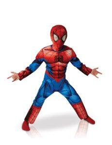 Costume bimbo Spiderman Deluxe con muscoli