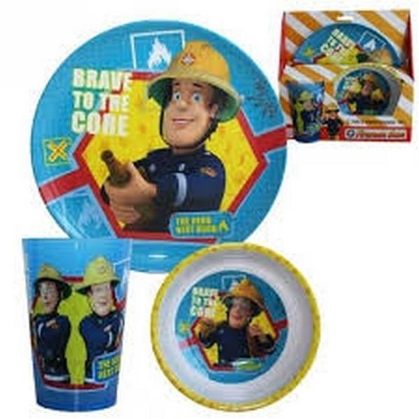 Set tavola Sam il Pompiere
