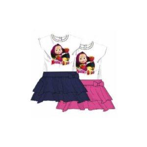 Vestito smanicato Masha e Orso 'Strawberry'