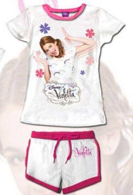 Completo maglietta e shorts Violetta Disney