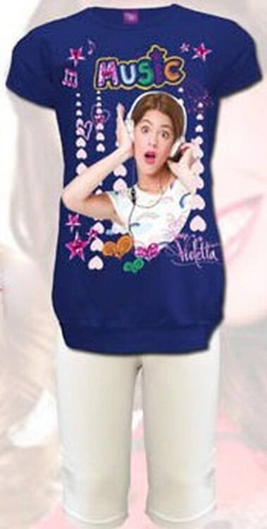 Completo T-Shirt e Leggings Violetta Disney