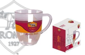 Tazza in vetro AS Roma
