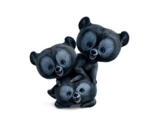Personaggio 3 orsetti Brave Merida