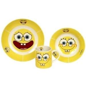Set colazione ceramica Spongebob 3pz