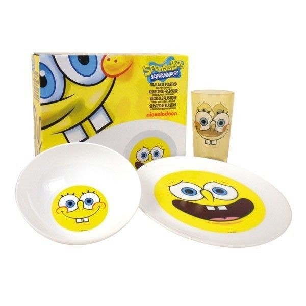 Set colazione plastica Spongebob 3pz