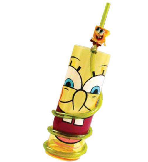 Bicchiere con cannuccia Spongebob